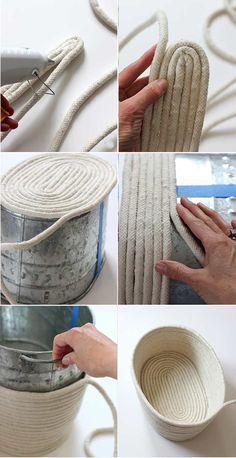 halat iple sepet yapımı tekniği anlatımı