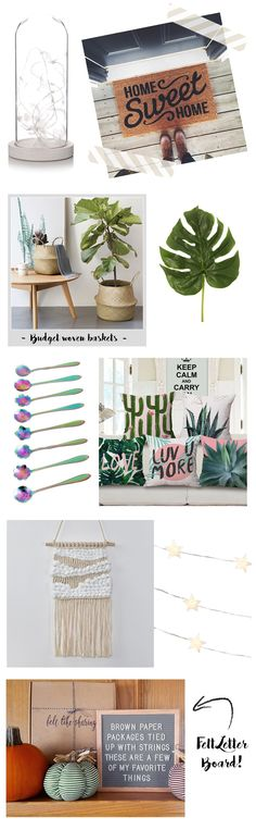 A makeup and beauty blog about new products and bargain buys Basket Weaving, Woven Baskets, Felt Letters, Makeup And Beauty Blog, Brown Paper Packages, Home Budget, Sweet Home, Place Card Holders, Lettering