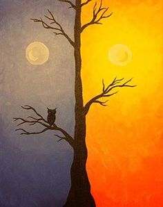 Join us for a Paint Nite event Tue Oct 2014 at 177 Jennifer Rd. - akrilik - Join us for a Paint Nite event Tue Oct 2014 at 177 Jennifer Rd. Easy Canvas Art, Small Canvas Art, Simple Acrylic Paintings, Easy Canvas Painting, Painting & Drawing, Diy Painting, Oil Pastel Art, Oil Pastel Paintings, Art Plastique