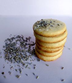 Lavender Lemon Honey Shortbread  These look soo elegant. (Perfect for a vintage tea party !@Michelle Flynn Flynn Bariso)