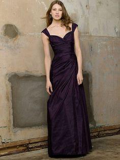 Sheath/Column Straps Taffeta Floor-length Ruffles Bridesmaid Dresses