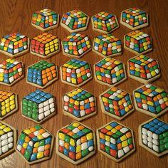 Rubiks cube cookies