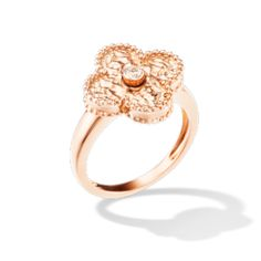 Vintage Alhambra ring, Pink Gold, Van Cleef & Arpels