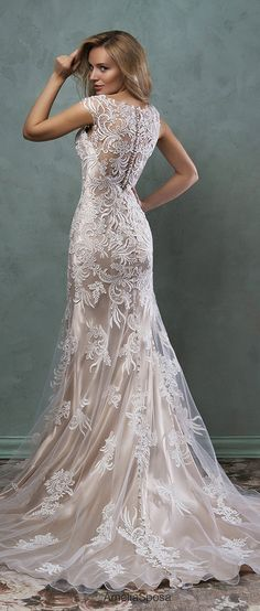 amelia sposa 2016 champagne underly lace wedding dresses pia