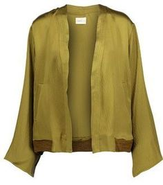 Simon Miller Koka Textured Silk-Satin Jacket