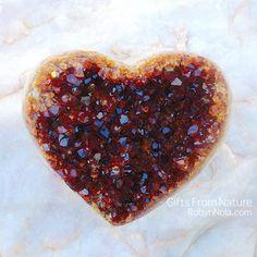 Beautiful Citrine Geode Heart