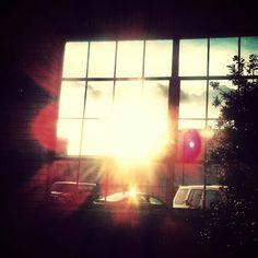 Sun through a window!