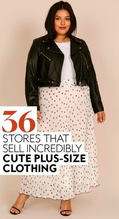 If you're tired of every fashion-forward piece stopping at size 12, you'll want to check out this list. #fashion #plussizeclothing