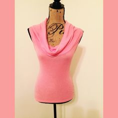 Michael Stars Pink Cowl Versatile pink Michael Stars cowl neck top.  It has just a bit of shimmer and is great to wear with shorts or jeans or under a jacket.  50 % cotton/ 50% nylon.  Fits like a small but has some stretch to it. Michael Stars Tops Tees - Short Sleeve