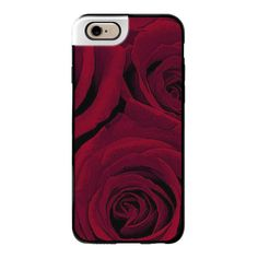 iPhone 6 Plus/6/5/5s/5c Metaluxe Case - Maroon Roses ($50) ❤ liked on Polyvore featuring accessories, tech accessories, iphone case, iphone cover case and apple iphone cases