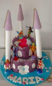 bolo castelo das winx / winx castle cake