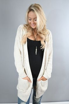 Warm and Cozy Cardigan ~ Natural – The Pulse Boutique
