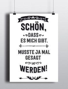 Typo Poster mit lustigem Spruch: Kunstdruck für Dein Zuhause / print with funny statement made by RTF*P via DaWanda.com