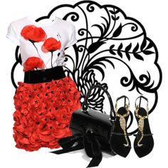 """1000 papaveri rossi"" by kairi92 on Polyvore"