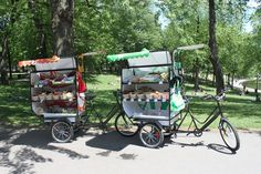 Fruixi in Montreal. A public program to bring fruits and veg to food deserts in Montreal -- using the flexibility of bicycles!