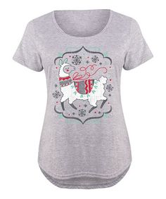 Athletic Heather Llama Scoop Neck Tee - Plus #zulily #zulilyfinds