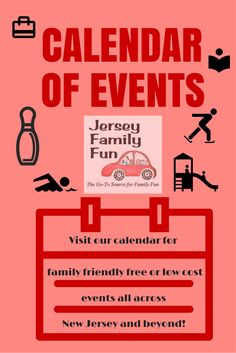 The only website you need for things to do with families in New Jersey - and beyond!  Almost all events listed are $5 or under!