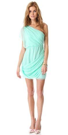 alice + olivia Wesson One Shoulder Dress |