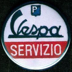 VESPA SERVIZIO - Vespa Service - Button Badge Pinback Pin Fridge Magnet & Pocket Mirror by BeatGorilla