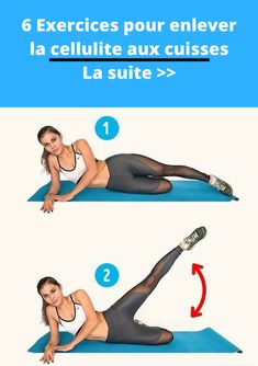 6 exercices pour enlever la cellulite aux cuisses fessier hanches (routine anti … 6 exercises to remove cellulite at the gluteal hips thighs (anti cellulite routine) Causes Of Cellulite, Lose Cellulite, Cellulite Exercises, Cellulite Remedies, Cellulite Workout, Academia, Fitness Tips, Fitness Women, Workout Exercises