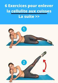 6 exercices pour enlever la cellulite aux cuisses, fessier, hanches (routine anti cellulite) #cellulite #fessiers #anticellulite #femme