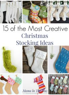 These creative and adorable Christmas Stocking ideas are certain to get you in the Christmas spirit. Who says you can only have one Christmas stocking? Family Christmas, Christmas Crafts, Merry Christmas, Quilted Christmas Stockings, Diy Stockings, Hygge Christmas, Stocking Ideas, Christmas Activities For Kids, Personalized Stockings