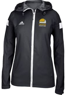 The Adidas Women's Climaproof Shockwave Women's Woven Full Zip Jacket features an adjustable hood and cuffs along with zippered pockets to keep your valuables safe. Jackets For Women, Clothes For Women, Adidas Outfit, Swimsuit Cover Ups, Fashion Photo, Adidas Women, Navy And White, Fashion Forward, Adidas Jacket