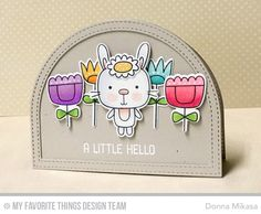 Handmade card from Donna Mikasa featuring Stitched Dome Frames Die-namics #mftstamps