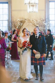 Corinne and Scott travelled from Singapore for their Winter wedding in Scotland. Planning by Blue Thistle Weddings.