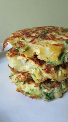 Potato Spinach Pancakes