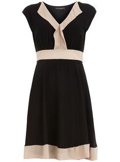 Black colour block dress - Dresses - Clothing - Dorothy Perkins United States