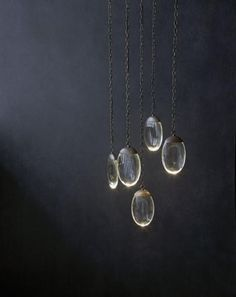 Am very fond of these pod-like pendant drop lights by Ochre ...