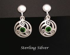 Clip On Earrings 925 Sterling Silver Green Crystals, Clip-on 264 Gemstone Earrings, Sterling Silver Earrings, Silver Jewelry, Clip On Earrings, Drop Earrings, Peridot Color, Fashion Earrings, Mother Day Gifts, Gifts For Women
