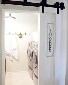 Basement Laundry Room Decorations Ideas And Tips 2018 Small laundry room ideas Laundry room decor Laundry room makeover Farmhouse laundry room Laundry room cabinets Laundry room storage Box Rack Home Laundry Room Doors, Laundry Room Remodel, Farmhouse Laundry Room, Laundry Closet, Laundry Room Organization, Laundry Room Design, Laundry In Bathroom, Organization Ideas, Storage Ideas