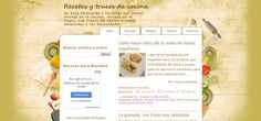 Blog realizado en blogger sobre recetas de cocina: recetas y trucos de cocina