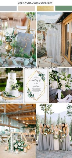 elegant light grey,ivory and gold garden wedding color ideas wedding themes 5 Amazing Wedding Color Palettes Inspired by EWI Floral Invitations Invitation Floral, Elegant Invitations, Modern Wedding Invitations, Wedding Themes, Wedding Favors, Diy Wedding, Rustic Wedding, Dream Wedding, Wedding Day