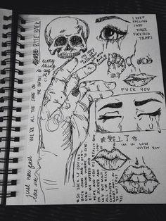 Arte Grunge, Grunge Art, Dark Art Drawings, Art Drawings Sketches Simple, Art Diary, Arte Sketchbook, Indie Art, Funky Art, Art Journal Inspiration