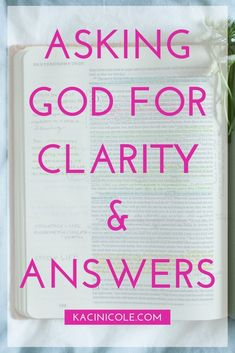 Asking God For Clarity & Answers | Asking God Why | Needing Direction From God | How Do I Know What God Wants For Me | Seeking Clarity | Getting Clarity From God | Christian YouTubers | Bible Study Video | Deuteronomy 29:29 | Kaci Nicole