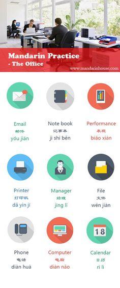 Office Vocabulary in Chinese.  For more info please contact: bodi.li@mandarinhouse.cn The best Mandarin School in China