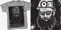"""Gzy Ex Silesia - Miner Lino Cut (Personal design)"" t-shirt design by Gzy Ex Silesia"