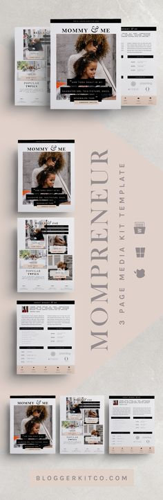 35 Best Media/Press Kit Templates images Media kit template, Cv
