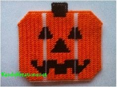 Halloween Pumpkin Jack O'Lantern Plastic Canvas Pattern