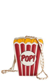 A Look That Pops Bag. Satisfy your craving for quirky-cute style with this popcorn purse! #gold #prom #modcloth