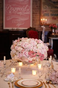 Dogwood Party Rentals Table Decor   The Firehouse Wedding Showcase, Old Sac   Jackie's Flowers