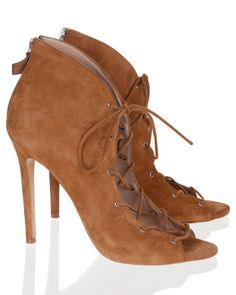 MODE COLLECTIVE - SUEDE LACE UP BOOTIE