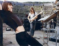 Roger Waters with David Gilmour ...live at Pompei