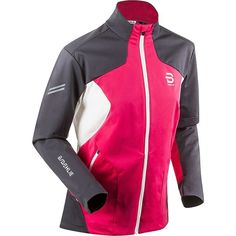 Bjorn Daehlie Supreme Jacket ($350) ❤ liked on Polyvore featuring activewear, activewear jackets, pink sportswear and pink activewear