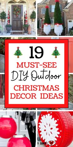 Spruce up your home's exterior this Christmas with these amazingDIY Outdoor Christmas Decor Ideas. Whether you are looking for Christmas Decorations for your porch or front yard, these ideas have got you covered! #christmasdecorideas #outdoorchristmasdecorideas #christmasdecorations #christmasdecorationideas #diychristmasdecorideas #christmascraftsforadults #homedecorideas