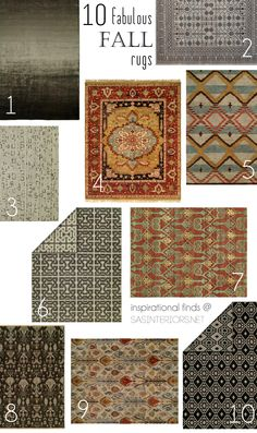 10 Fabulous Fall Rugs: an inspirational collection of rugs for the changing season!
