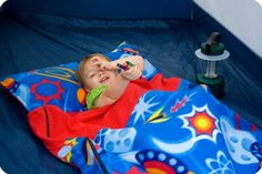 diy kids sleeping bag with pillow
